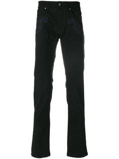джинсы кроя слим Versace Collection