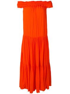 платье миди с открытыми плечами  Raquel Allegra