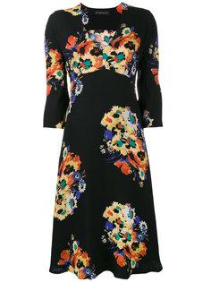 платье миди с цветочным принтом и V-образным вырезом  Etro