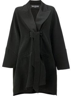 пальто с завязкой на талии Balmain