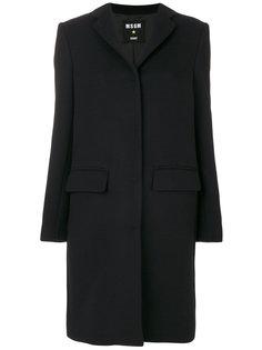 классическое однобортное пальто MSGM