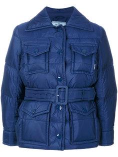 дутая куртка с четырьмя карманами  Prada