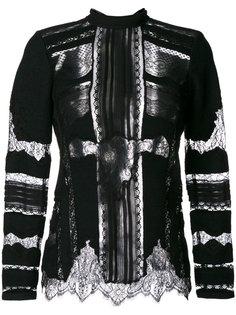 кружевная блузка с панельным дизайном Ermanno Scervino