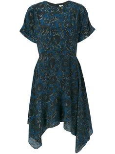 расклешенное платье с цветочным принтом  Kenzo