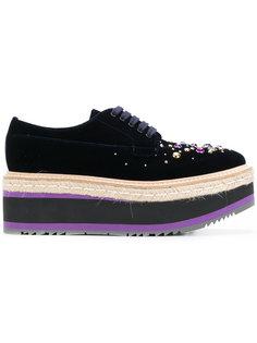 туфли на платформе Prada