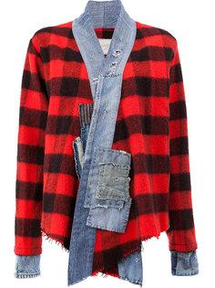 винтажный клетчатый пиджак Greg Lauren