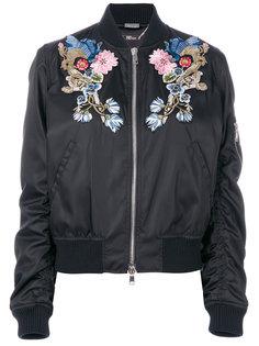 куртка-бомбер  с цветочной вышивкой Alexander McQueen