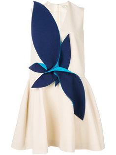 расклешенное платье с аппликацией Delpozo