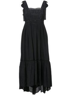 асимметричное платье с узлами на лямках Ulla Johnson