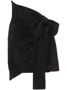 юбка с большим бантом Saint Laurent