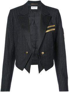 укороченный пиджак в стиле милитари Saint Laurent