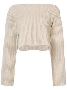 укороченный кашемировый свитер Khaite