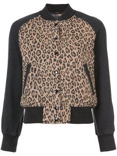 куртка бомбер с леопардовым узором R13