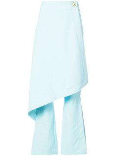 расклешенные многослойные брюки Solace London