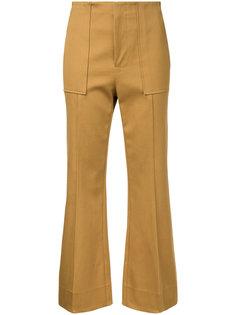 укороченные брюки клеш  Bassike