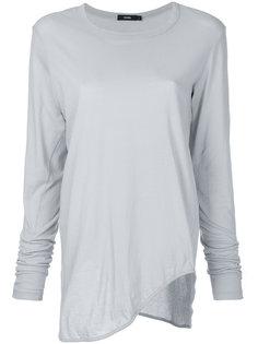 футболка с длинными рукавами и закругленным краем  Bassike