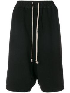 спортивные шорты с заниженным шаговым швом  Rick Owens DRKSHDW