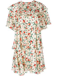 многослойное платье с цветочным принтом Vivetta