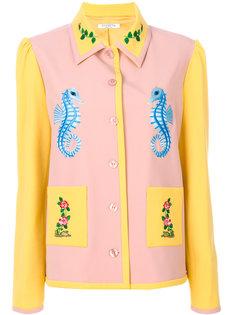 приталенная куртка с вышивкой морских коньков Vivetta