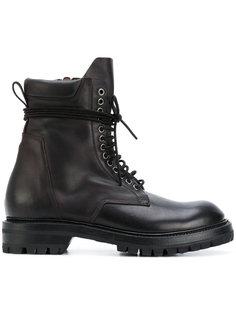 массивные ботинки на шнуровке Rick Owens