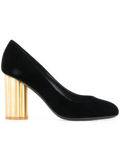 туфли с каблуком-цветком Salvatore Ferragamo