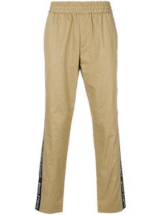 брюки-джоггеры с лампасами с логотипами Palm Angels