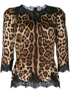 блузка с леопардовым принтом Dolce & Gabbana