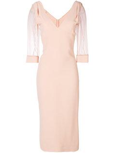 полупрозрачное платье миди Dsquared2