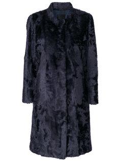 пальто миди со вставками  Liska