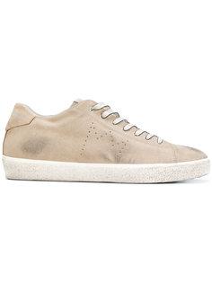 кроссовки с эффектом потертости Leather Crown