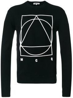 свитер с геометрическим рисунком McQ Alexander McQueen