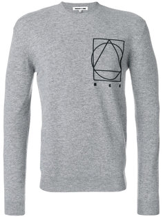 свитер с геометрическим принтом McQ Alexander McQueen