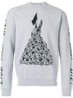 свитер с принтом черепов McQ Alexander McQueen