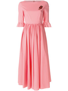 платье миди с оборками  Vivetta