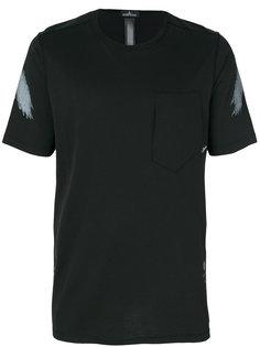 футболка с принтами в виде мазков краски Stone Island Shadow Project
