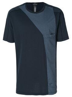 футболка с панельным дизайном и карманом Stone Island Shadow Project