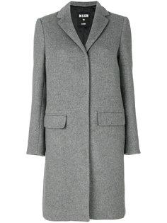 пальто с потайной застежкой на пуговицы  MSGM