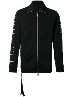 спортивная куртка с вышивкой на рукавах Unravel Project