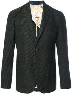 твидовый пиджак с застежкой на две пуговицы Etro