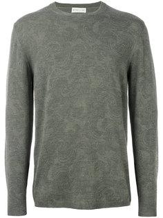 легкий свитер с цветочной вышивкой Etro