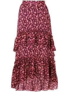 плиссированная юбка с цветочным узором Ulla Johnson
