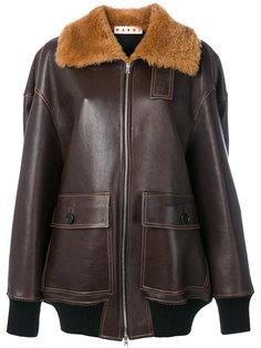 куртка с меховой отделкой  Marni