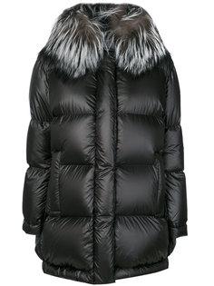 дутое пальто-кокон с воротником  Prada