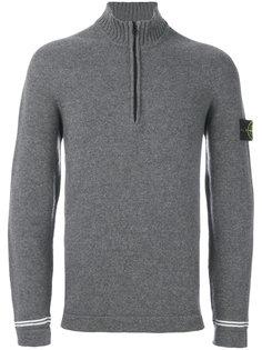свитер с высоким воротником на молнии Stone Island