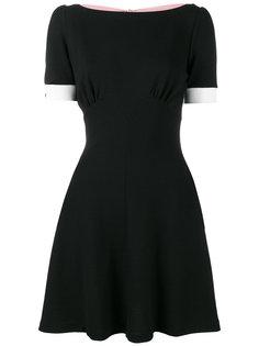платье мини с завязкой сзади  Miu Miu