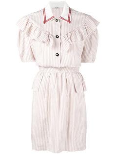 платье-рубашка в полоску  Miu Miu