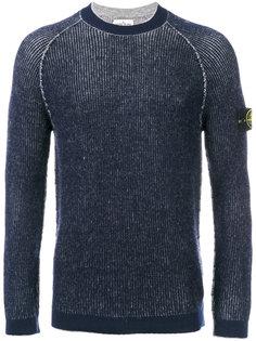 свитер узкого кроя с логотипом Stone Island