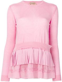 свитер с многослойными оборками Nº21