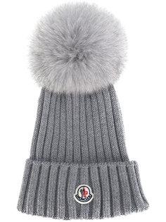 шапка с меховым помпоном Moncler