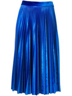 плиссированная юбка миди  MSGM